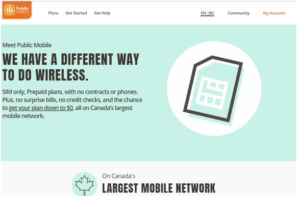 Public Mobile plans Canada