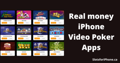 Real money IPhone video poker apps