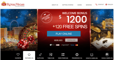Royal Vegas Canada casino- Free spins