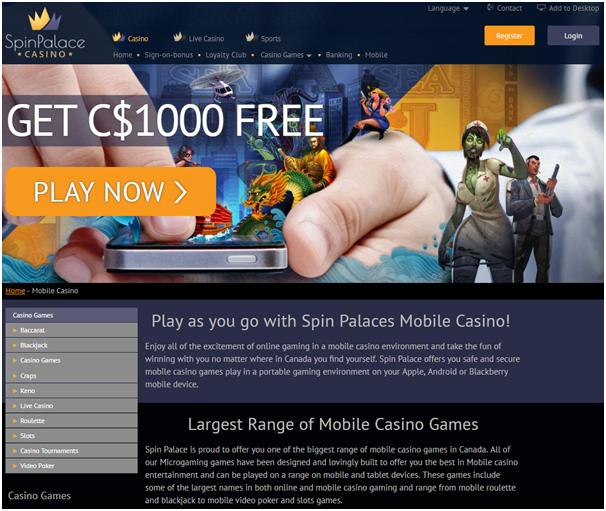 Spin Palace Casino Canada