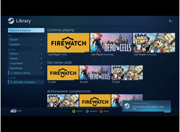 Steam Link App games