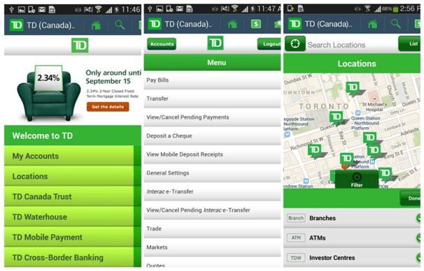 TD App features