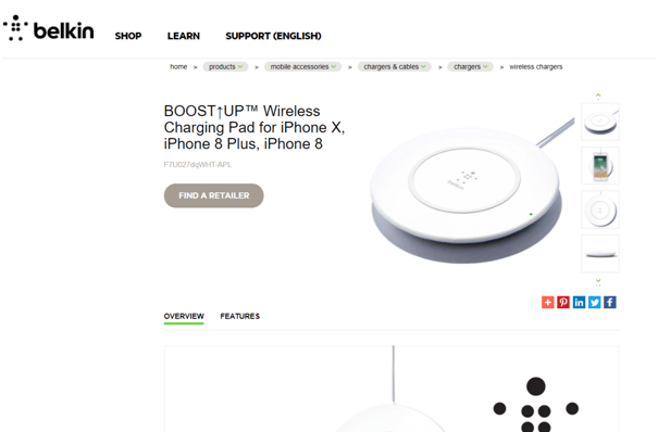 iPhone X Booster wireless charger