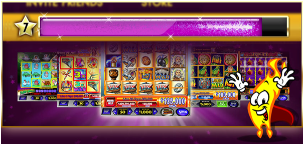 Level up slot machines