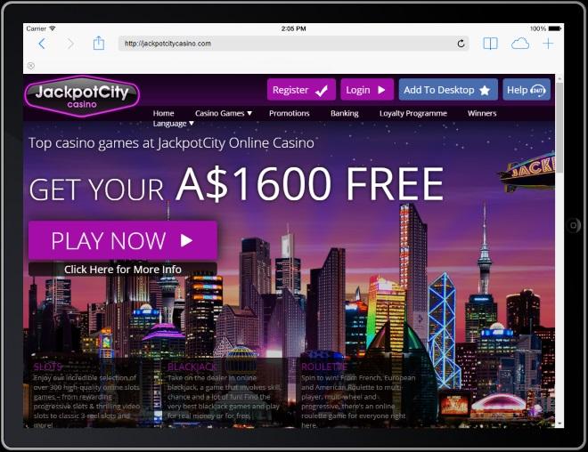Jackpot City $1600 Free