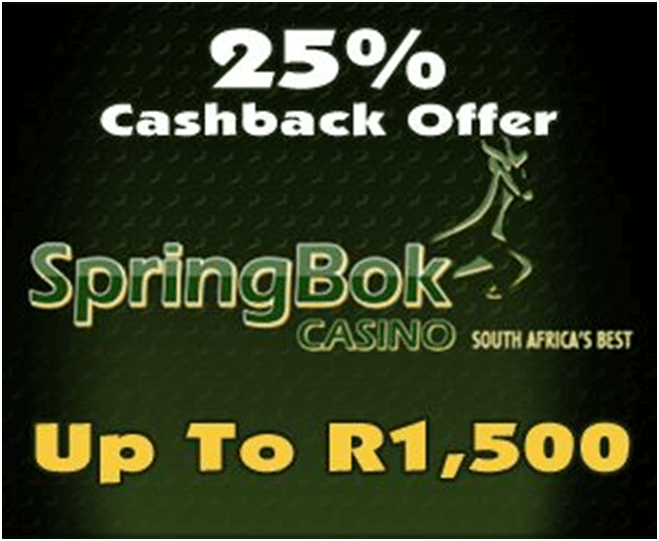 Best-highroller-casino-Springbok-SA-Cashback-offer