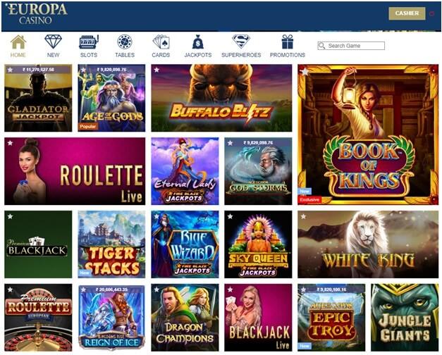 Europa Casino Slots to play