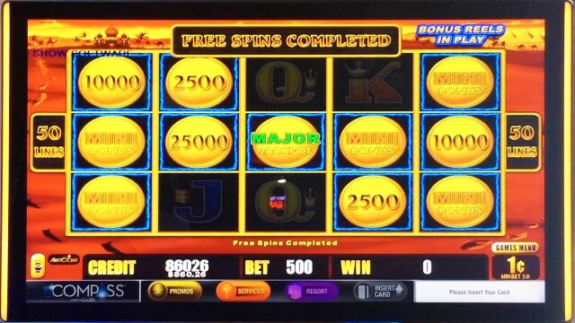 Slot machine time of day