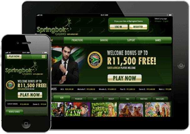 Springbok ZAR mobile bonus