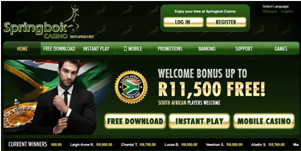 springbok casino online mobile site