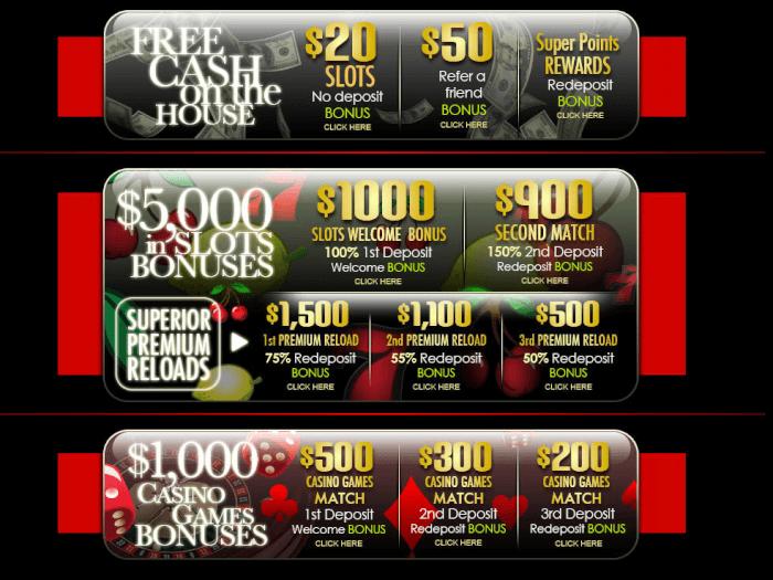 Superior casino bonuses