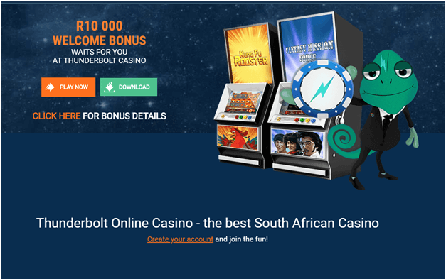 Thunderbolt online casino for South African punters