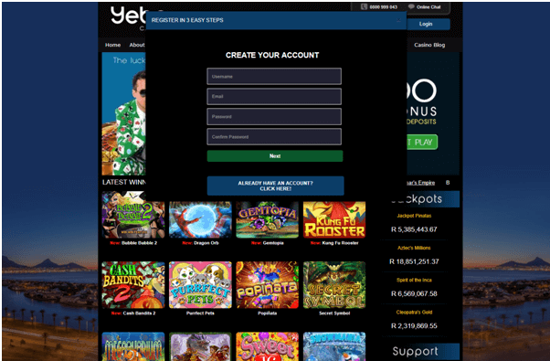 Yebo Casino- How to get started with mobile?