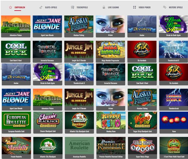 Das Platinum Play Online Casino bietet über 700 Casinospiele, die in Echtzeit gespielt werden können