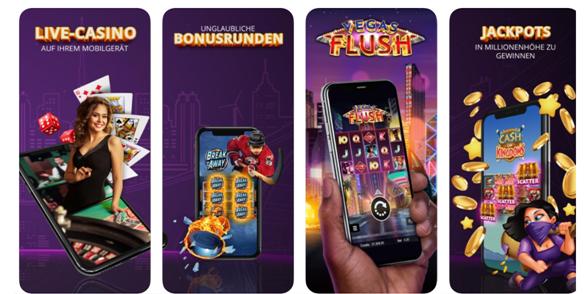 Laden Sie entweder die Jackpot City Casino App herunter oder spielen Sie sofort in Ihrem Smartphone-Webbrowser, sei es Chrome oder Safari