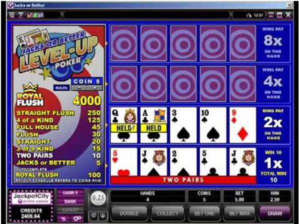 Jackpot City Online Casino Video Poker Spiele zu spielen