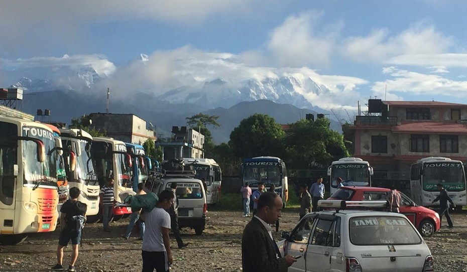 Pokhara tourist bus station, the best bus station views in the world