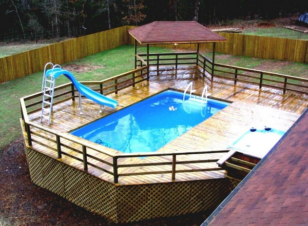 above ground pool fence ideas