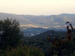 Blick von Ulic nach Zabrid, Ukraine