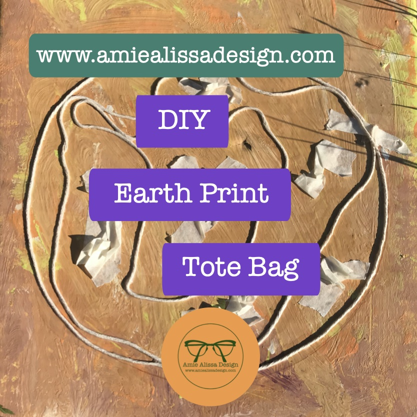 How to make your own DIY Earth Print Tote Bag