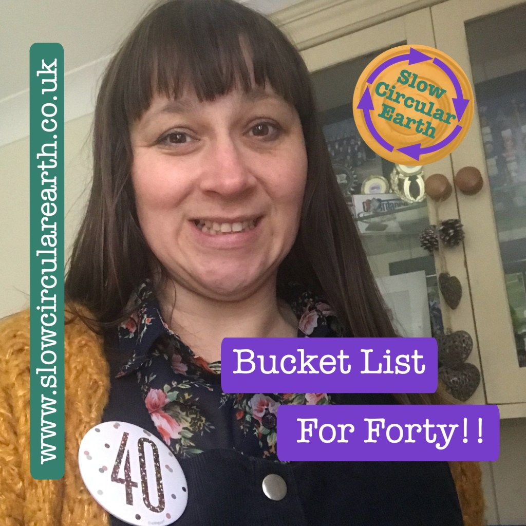 Bucket list for forty
