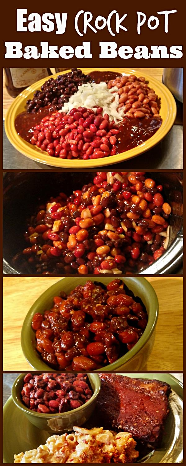 Slow Cooker Baked Beans. Find this and other delicious crockpot recipes @ https://SlowCookerKitchen.com