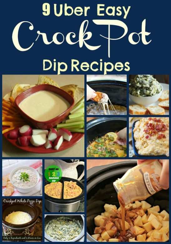 9 Uber Easy Crock Pot Dip Recipes. Find this and more slow cooker recipes at http://www.slowcookerkitchen.com