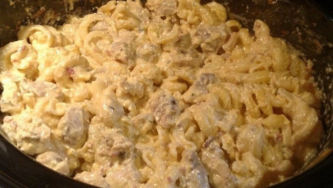 Slow Cooker Chicken Bacon Ranch Casserole