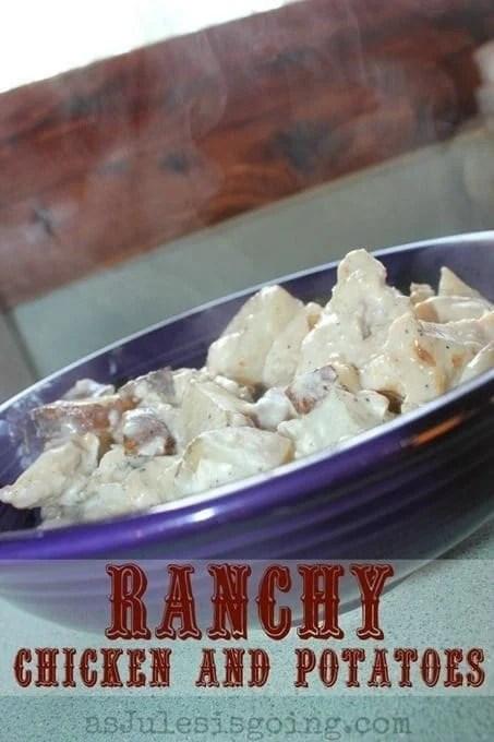 Creamy Chicken Ranch Potatoes