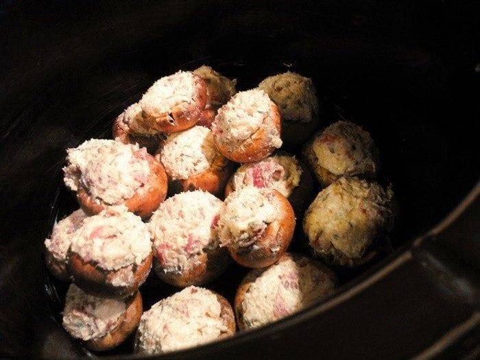 Slow Cooker Stuffed Mushrooms