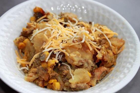 Cheesy Hamburger Potato Casserole