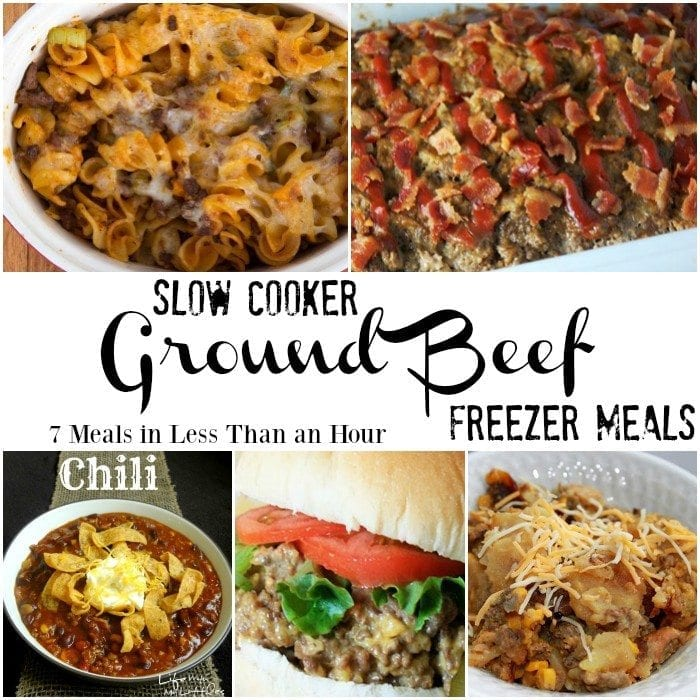 Slow Cooker Ground Beef Recipes! Printable grocery list for the roundup too. https://www.slowcookerkitchen.com