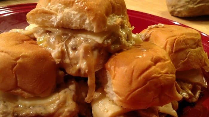 Crock Pot Pork Roast Sliders! Find this & more yumminess @ http://www.slowcookerkitchen.com