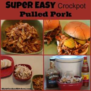 Easy Crockpot Pulled Pork! Find this & more @ https://SlowCookerKitchen.com