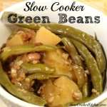 Slow Cooker Green Beans! Find this & more yumminess @ https://www.slowcookerkitchen.com
