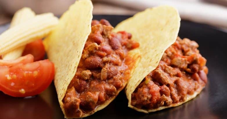 crock pot beef chili tacos