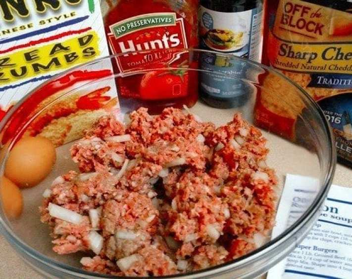 ingredients to make crock pot meatloaf dinner