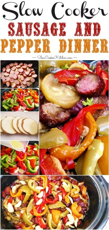 Slow Cooker Sausage and Pepper Dinner