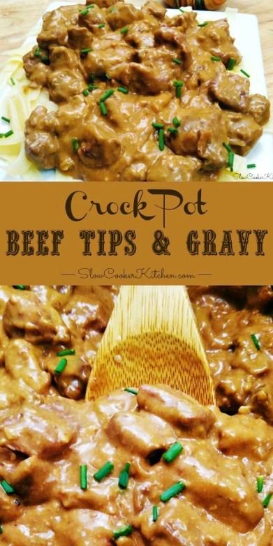 Crock Pot Beef Tips Gravy