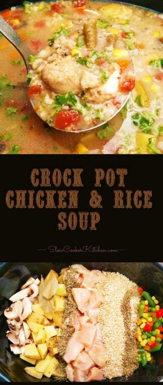 Crock Pot Chicken Rice Soup