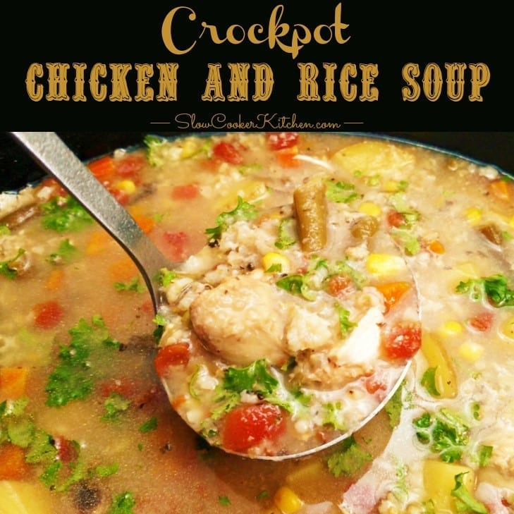 Crockpot Chicken and Rice Soup