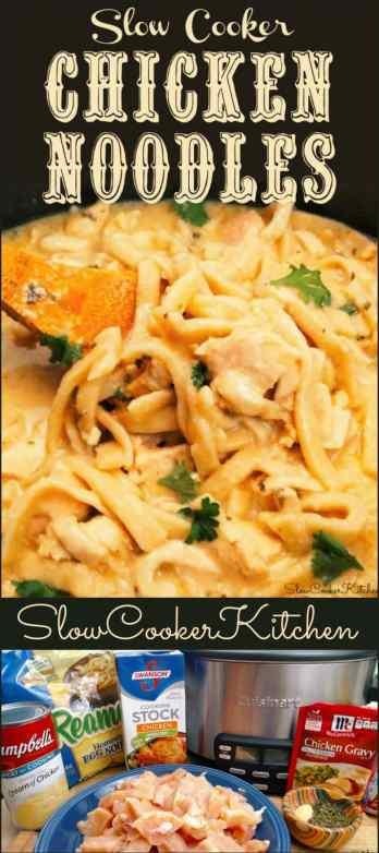 Crock Pot Chicken Noodles