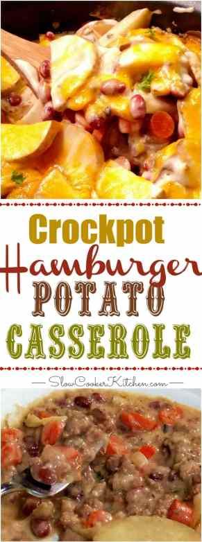 Crock Pot Hamburger Potato Casserole | http://www.slowcookerkitchen.com