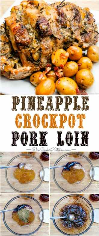 pineapple glazed pork loin crock pot