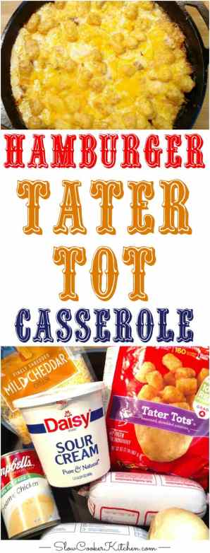Sep 14,  · Cheesy Chicken Tater Tot Casserole – This cheesy tater tot casserole makes for one of the best family friendly weeknight dinners! Easy to make, full of cheese, ranch seasoning, chicken, sour cream, and tater tots! This recipe was originally posted on October 2, /5(5).