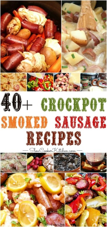 crock pot sausage and kielbasa recipes
