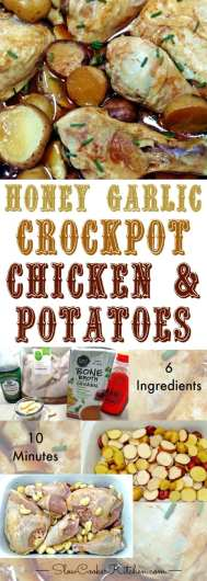 Honey Garlic Slow Cooker Chicken Potatoes