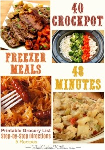 Easy Crock Pot Freezer Meals Cooking Session