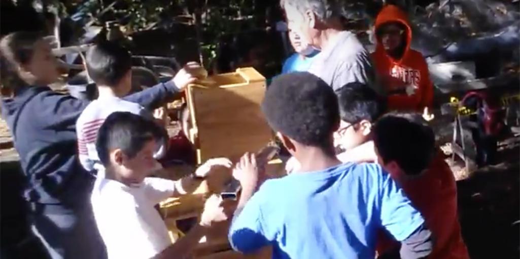 Watch Steele Lane Students at the Sebastopol Community Apple Press of Slow Food Russian River