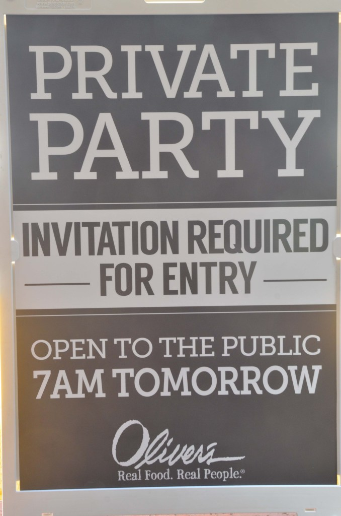Private Party. Invitation Required for Entry. Open to the Public 7 AM Tomorrow